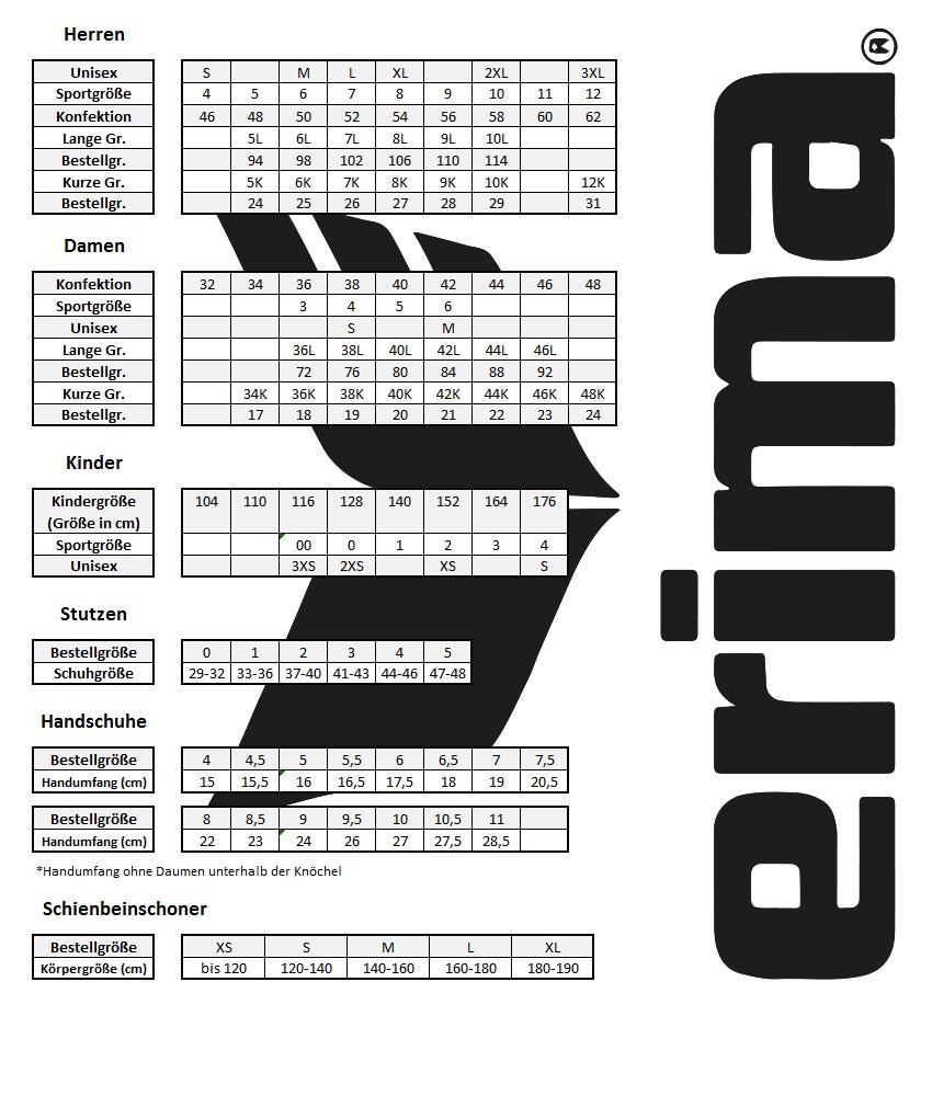 Turnschuhe für billige online zu verkaufen online hier Größentabelle für unsere Produkte