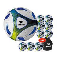 10x Erima Hybrid Training Fußball inkl. Ballsack