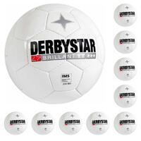 10x Derbystar Brillant TT Classic Trainingsball weiß 1181500100 Gr. 5
