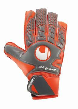 Uhlsport Torwarthandschuhe AERORED SOFT ADVANCED dark grau/fluo rot/weiß 101106202