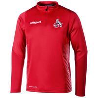 Uhlsport 1.FC KÖLN SCORE 1/4 ZIP TOP rot/weiß