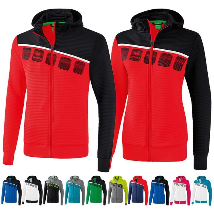 Erima 5 C Trainingsjacke mit Kapuze