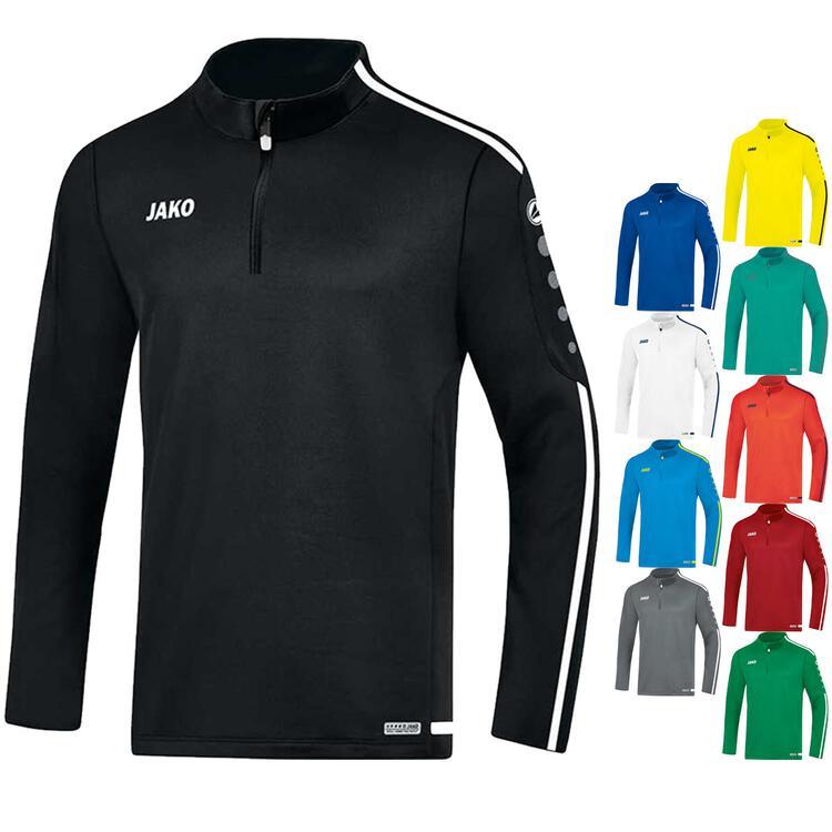 Jako Ziptop Striker Kinder sportgrün Sweatshirt Pullover Fußball Shirt Zip Top